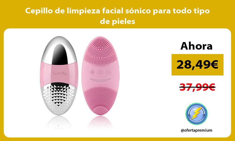Cepillo de limpieza facial sónico para todo tipo de pieles