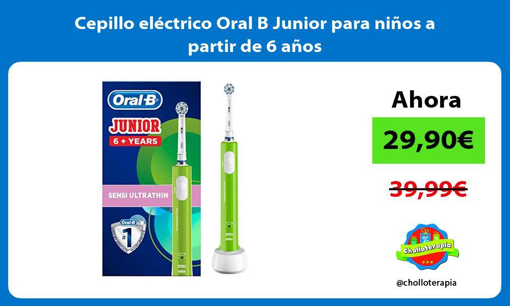 Cepillo eléctrico Oral B Junior para niños a partir de 6 años