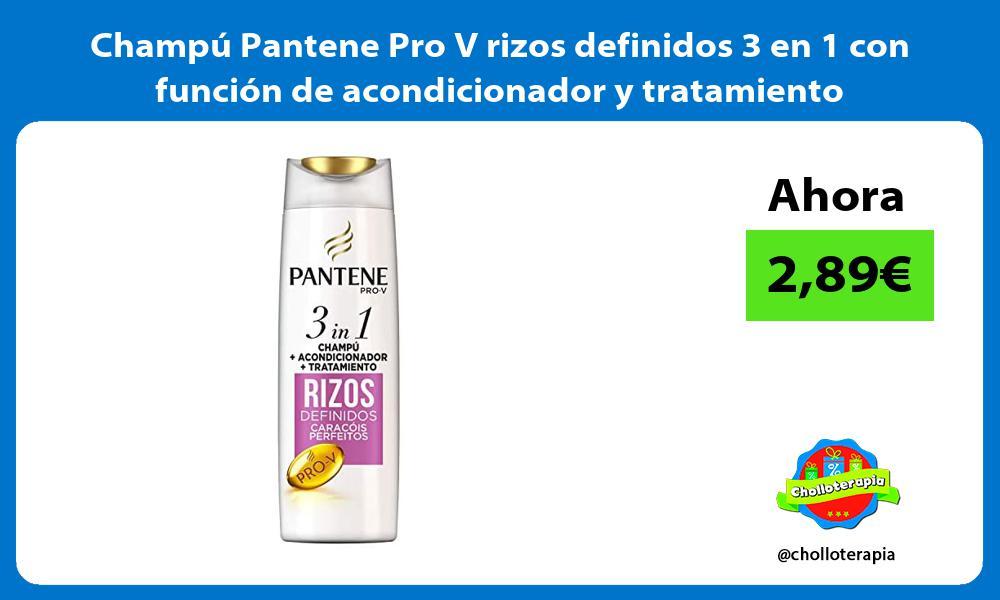 Champú Pantene Pro V rizos definidos 3 en 1 con función de acondicionador y tratamiento
