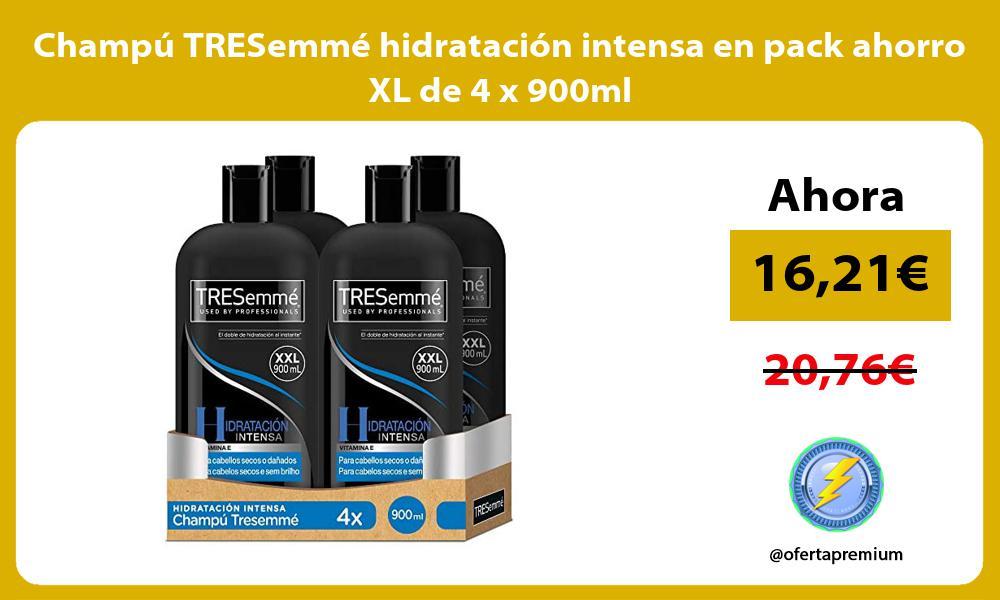Champú TRESemmé hidratación intensa en pack ahorro XL de 4 x 900ml