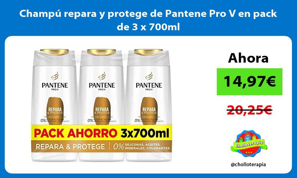 Champú repara y protege de Pantene Pro V en pack de 3 x 700ml