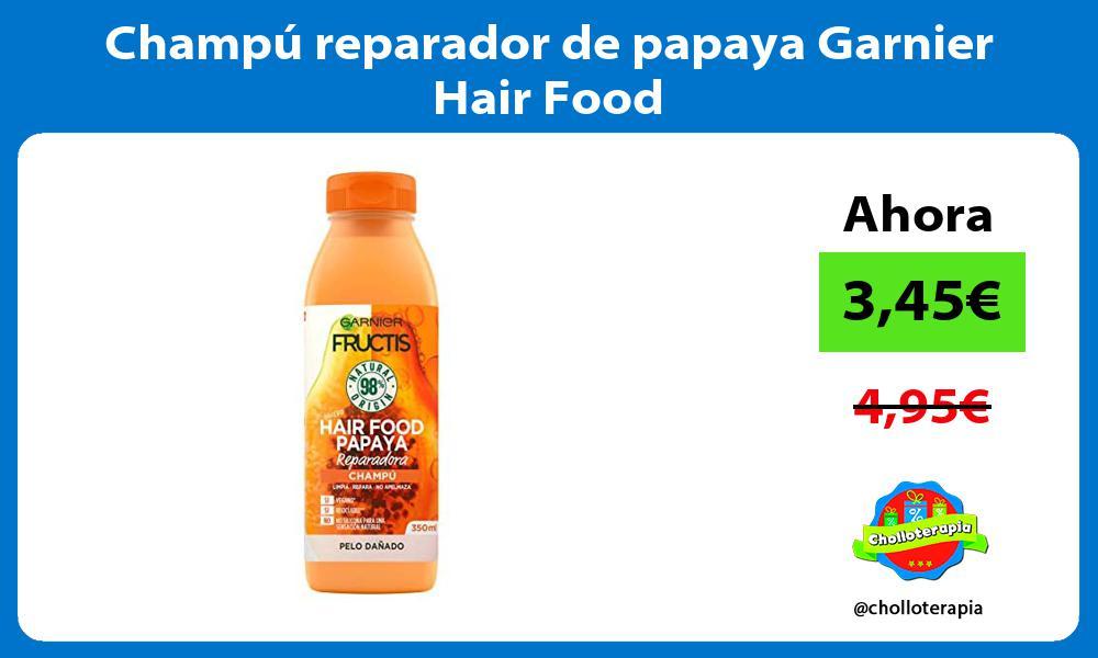 Champú reparador de papaya Garnier Hair Food
