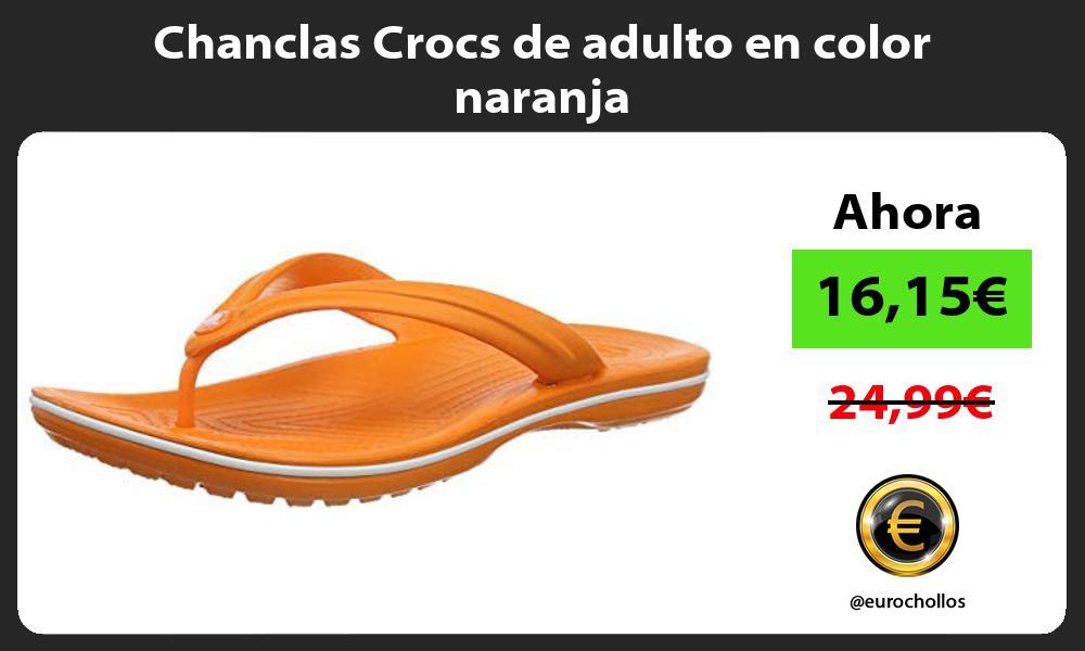 Chanclas Crocs de adulto en color naranja