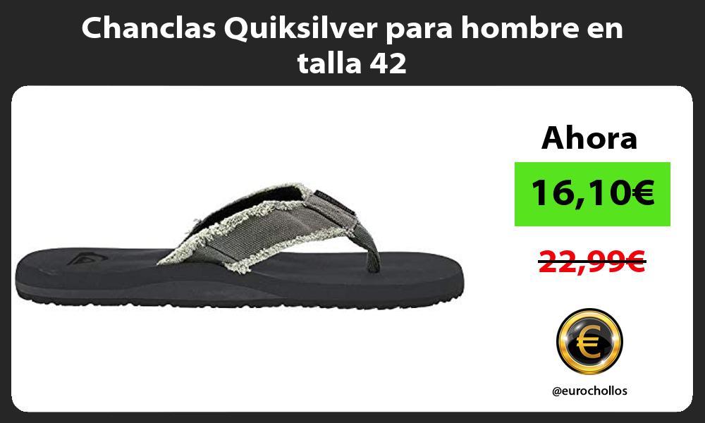 Chanclas Quiksilver para hombre en talla 42