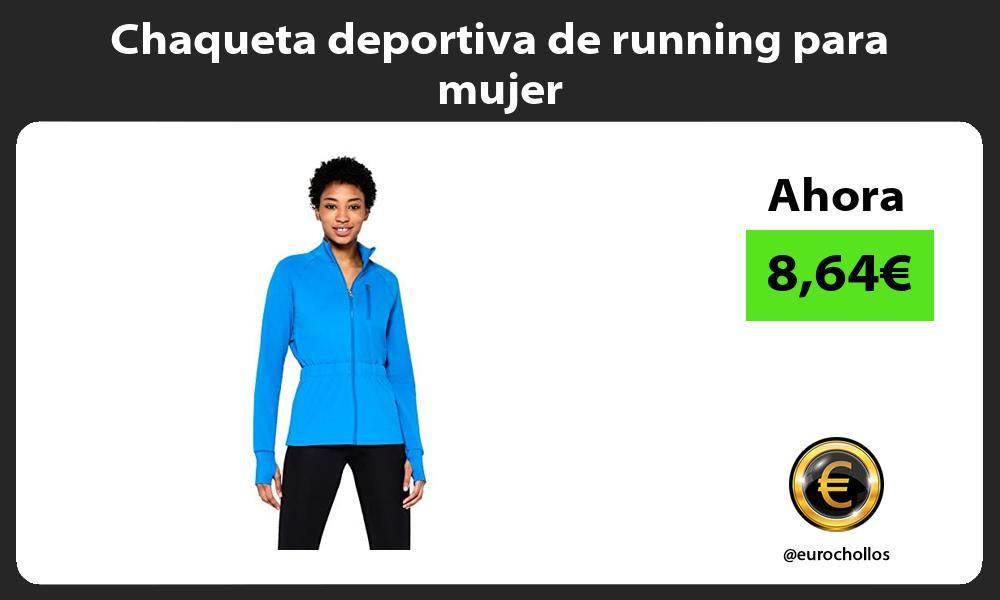 Chaqueta deportiva de running para mujer