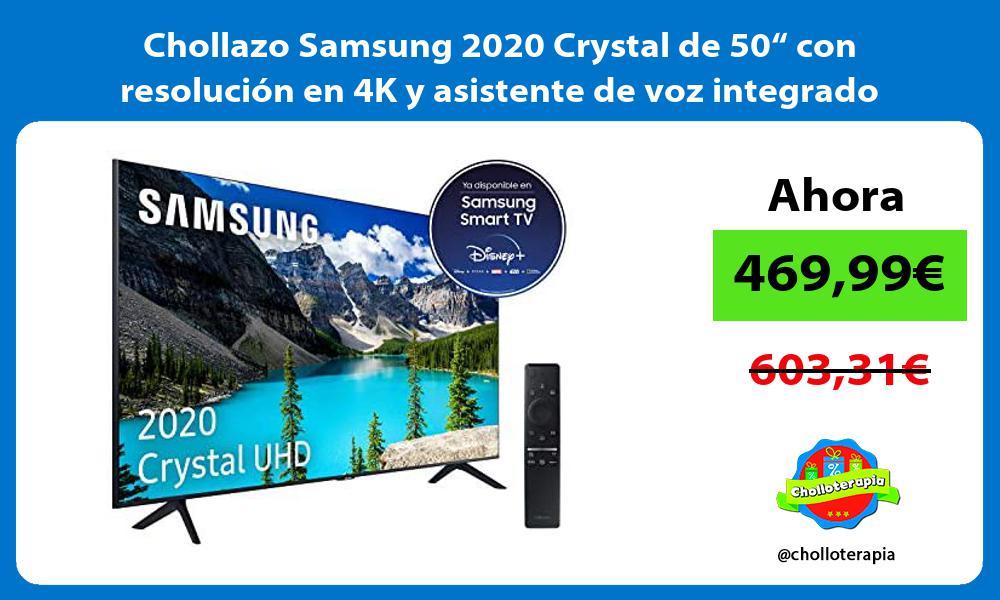 """Chollazo Samsung 2020 Crystal de 50"""" con resolución en 4K y asistente de voz integrado"""
