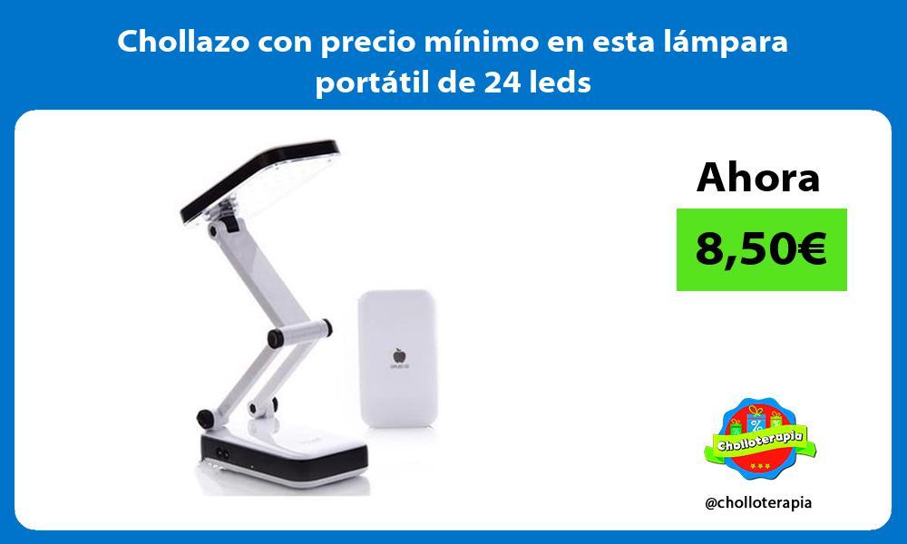Chollazo con precio mínimo en esta lámpara portátil de 24 leds