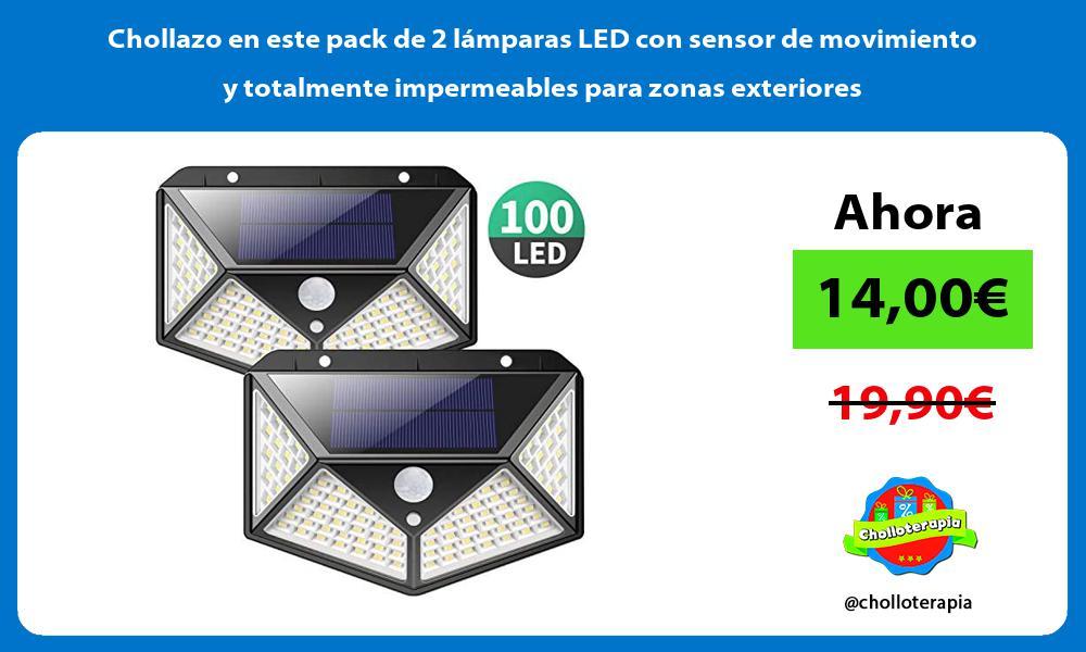 Chollazo en este pack de 2 lámparas LED con sensor de movimiento y totalmente impermeables para zonas exteriores
