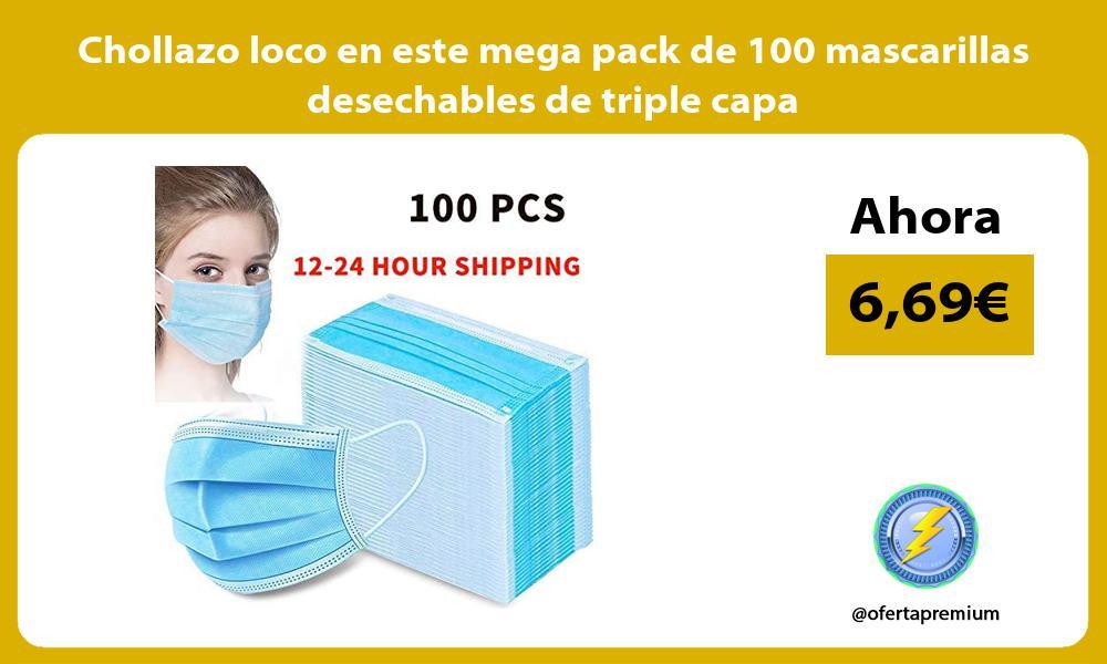 Chollazo loco en este mega pack de 100 mascarillas desechables de triple capa