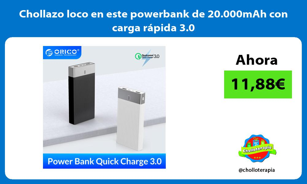 Chollazo loco en este powerbank de 20 000mAh con carga rápida 3 0