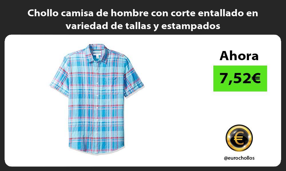 Chollo camisa de hombre con corte entallado en variedad de tallas y estampados