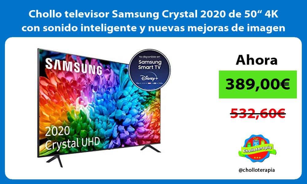 """Chollo televisor Samsung Crystal 2020 de 50"""" 4K con sonido inteligente y nuevas mejoras de imagen"""