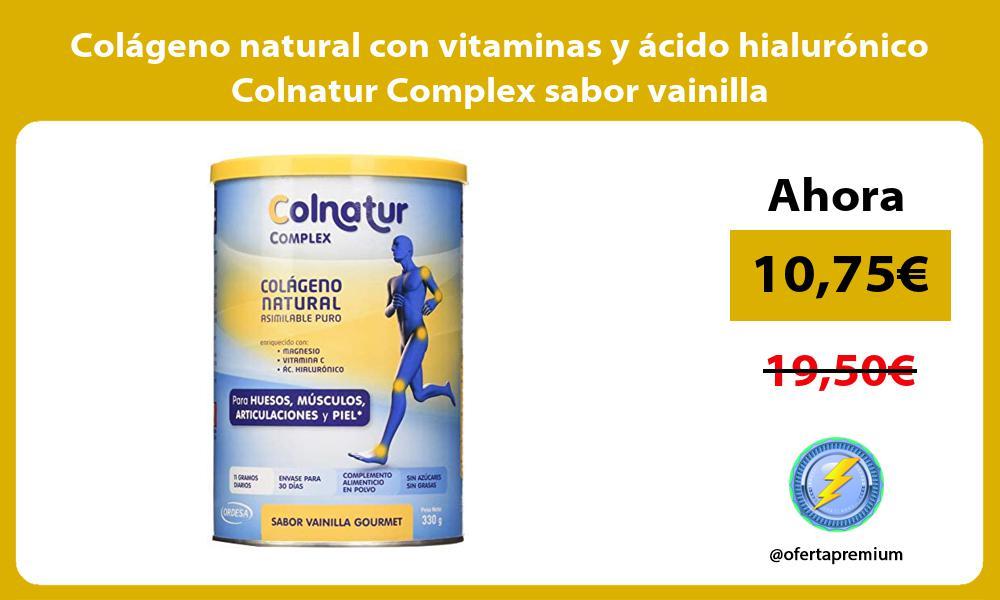 Colágeno natural con vitaminas y ácido hialurónico Colnatur Complex sabor vainilla