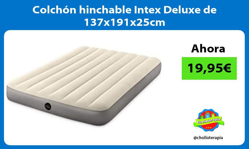 Colchón hinchable Intex Deluxe de 137x191x25cm