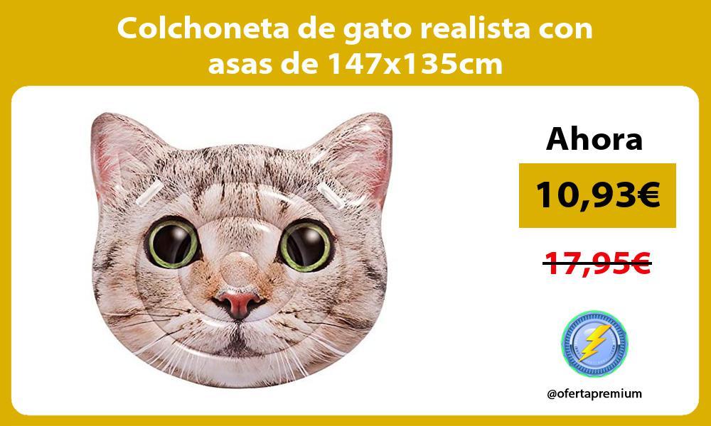 Colchoneta de gato realista con asas de 147x135cm