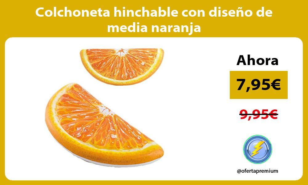 Colchoneta hinchable con diseño de media naranja