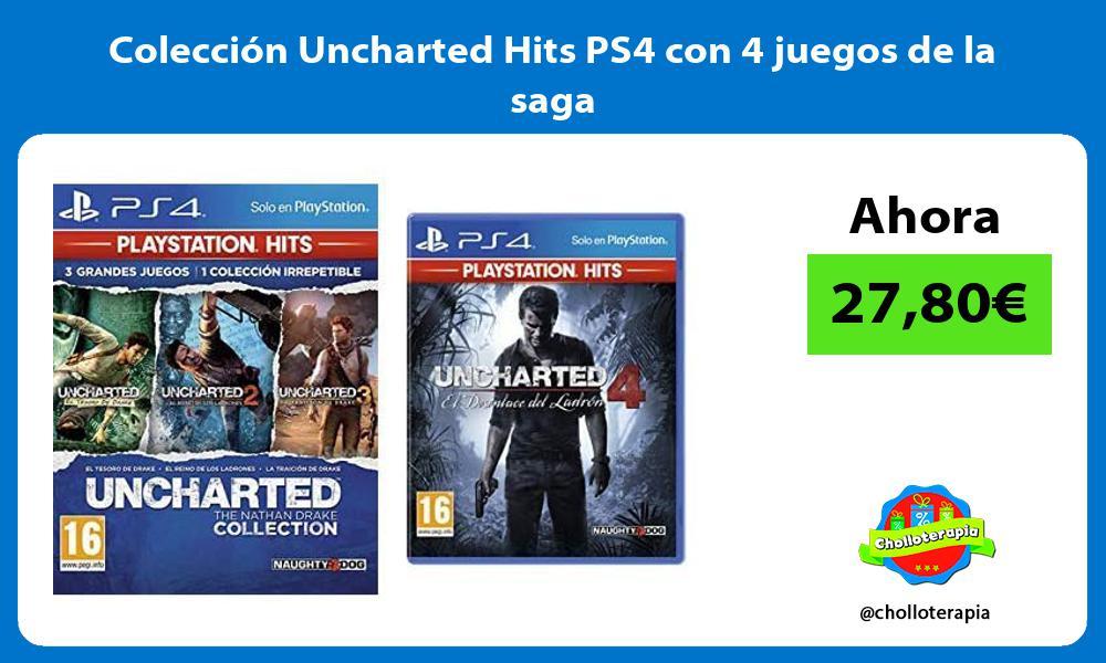 Colección Uncharted Hits PS4 con 4 juegos de la saga