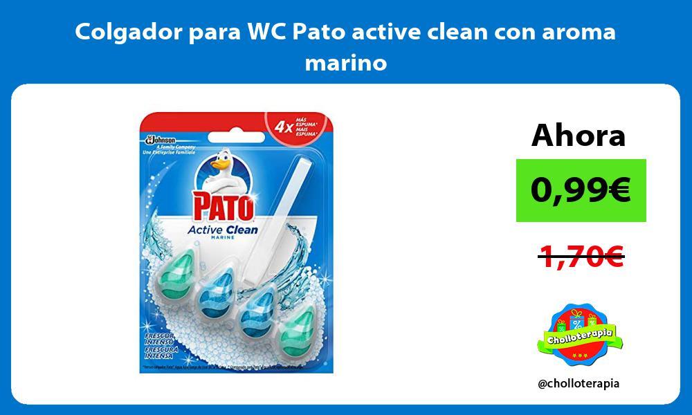 Colgador para WC Pato active clean con aroma marino