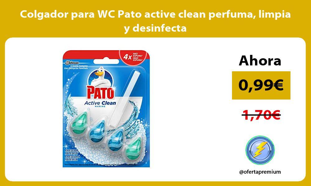 Colgador para WC Pato active clean perfuma limpia y desinfecta