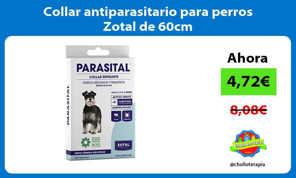 Collar antiparasitario para perros Zotal de 60cm