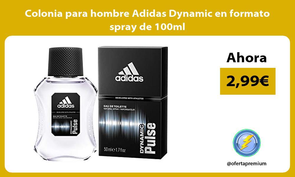 Colonia para hombre Adidas Dynamic en formato spray de 100ml