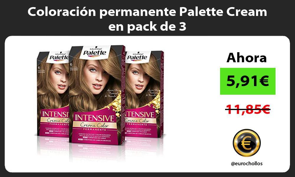 Coloración permanente Palette Cream en pack de 3