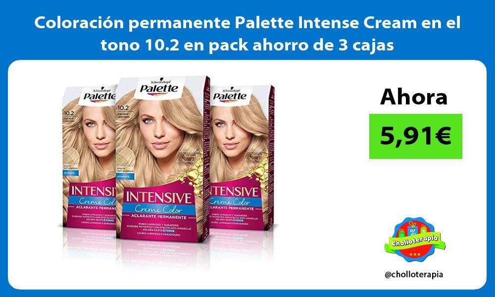 Coloración permanente Palette Intense Cream en el tono 10 2 en pack ahorro de 3 cajas
