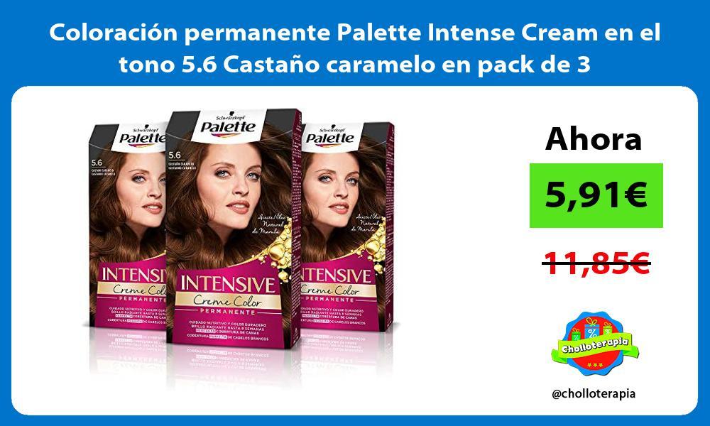 Coloración permanente Palette Intense Cream en el tono 5 6 Castaño caramelo en pack de 3