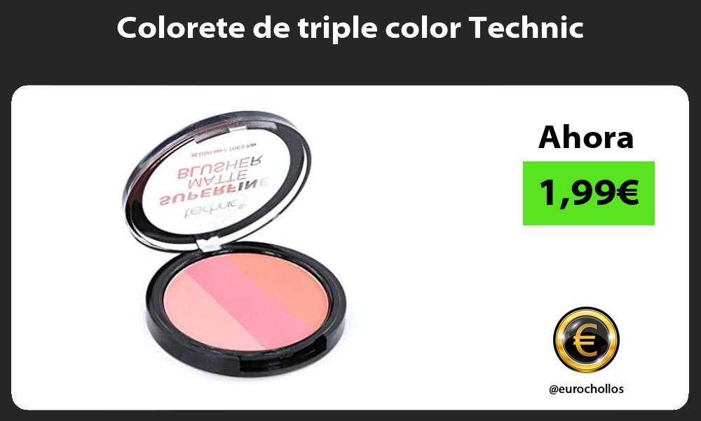 Colorete de triple color Technic