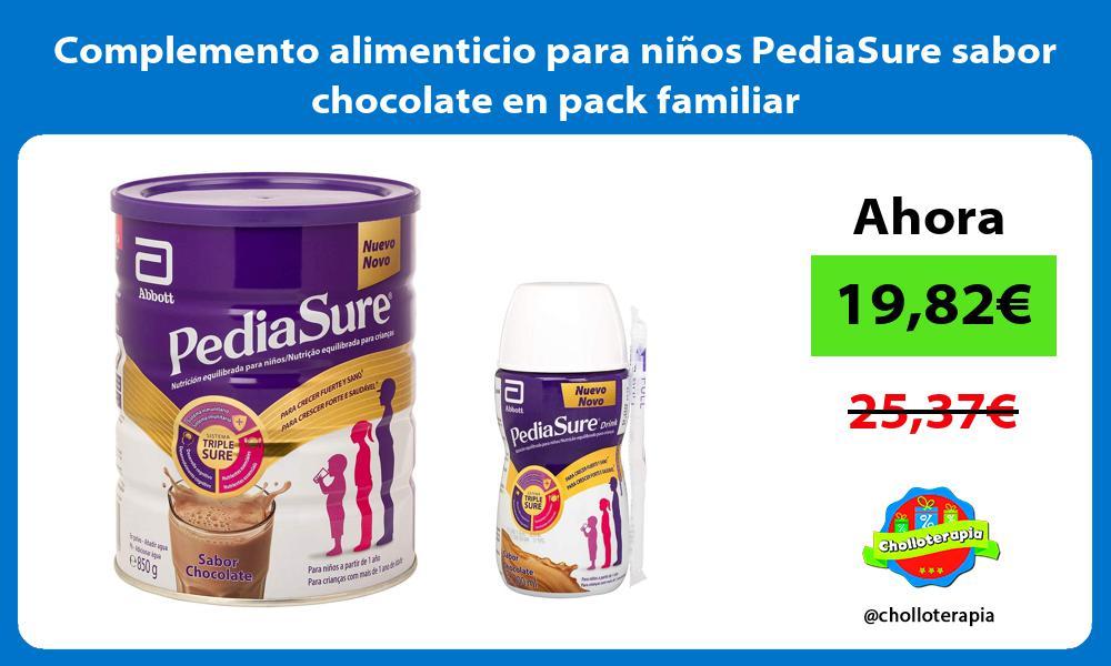 Complemento alimenticio para niños PediaSure sabor chocolate en pack familiar