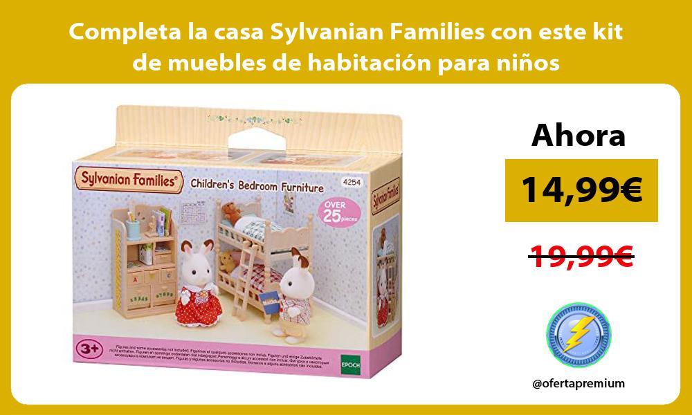 Completa la casa Sylvanian Families con este kit de muebles de habitación para niños