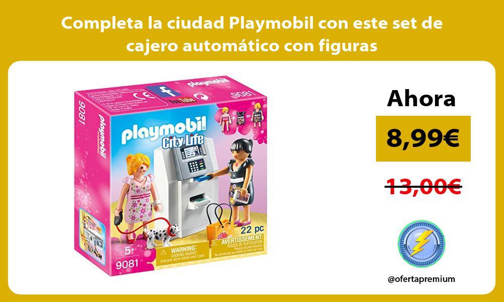 Completa la ciudad Playmobil con este set de cajero automático con figuras