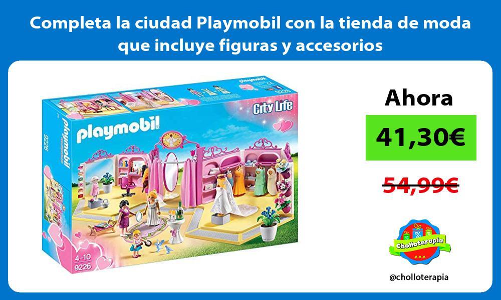 Completa la ciudad Playmobil con la tienda de moda que incluye figuras y accesorios