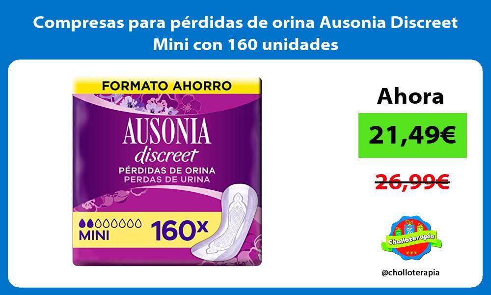 Compresas para pérdidas de orina Ausonia Discreet Mini con 160 unidades