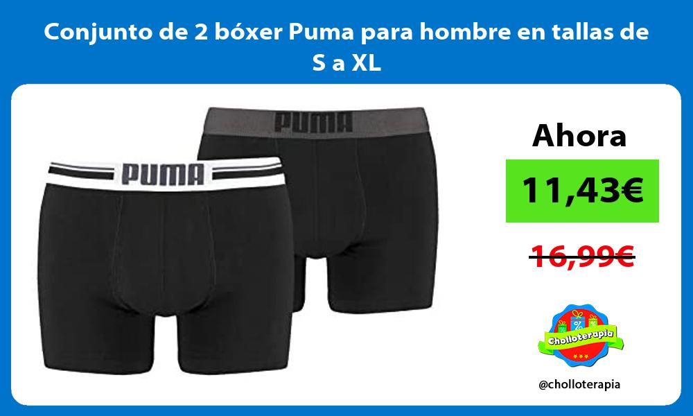 Conjunto de 2 bóxer Puma para hombre en tallas de S a XL