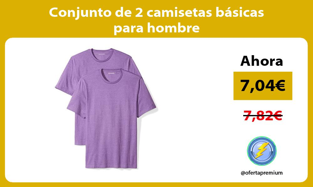 Conjunto de 2 camisetas básicas para hombre