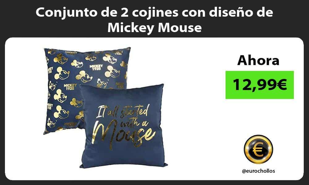 Conjunto de 2 cojines con diseño de Mickey Mouse