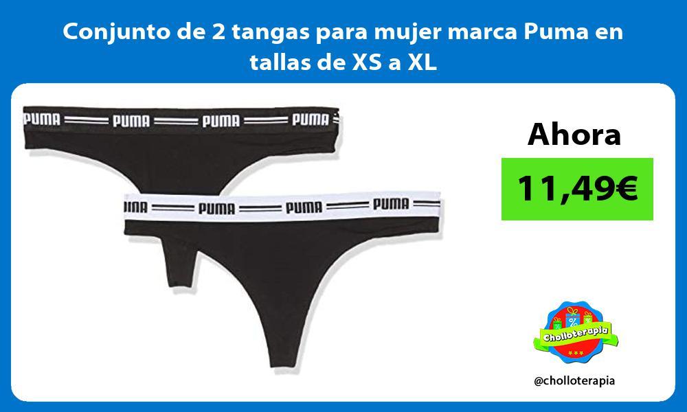 Conjunto de 2 tangas para mujer marca Puma en tallas de XS a XL