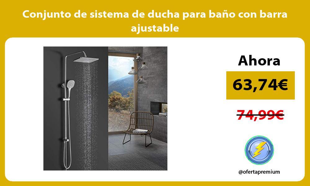 Conjunto de sistema de ducha para baño con barra ajustable