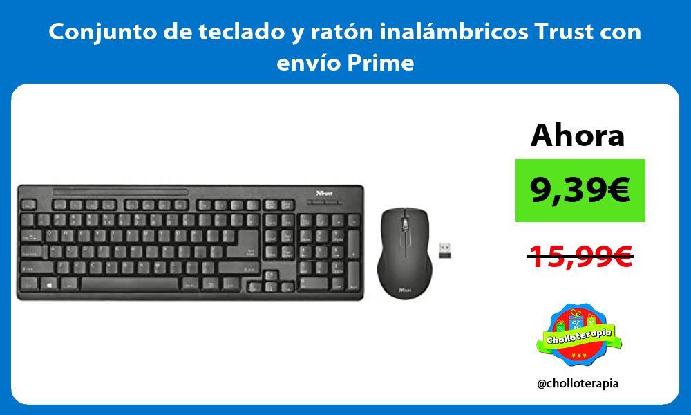 Conjunto de teclado y ratón inalámbricos Trust con envío Prime