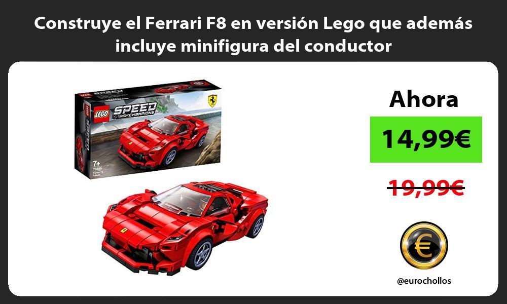Construye el Ferrari F8 en versión Lego que además incluye minifigura del conductor