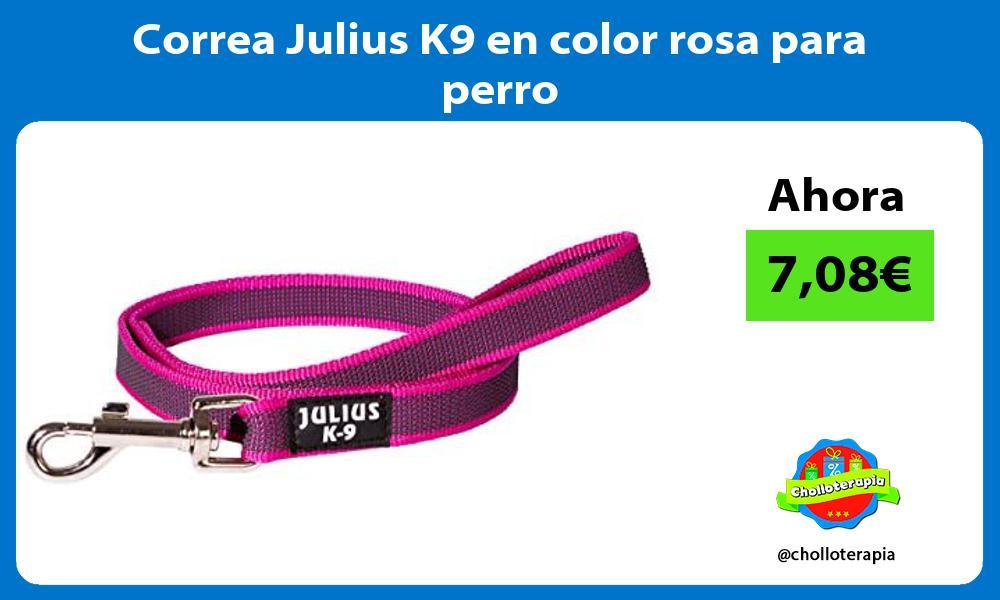 Correa Julius K9 en color rosa para perro