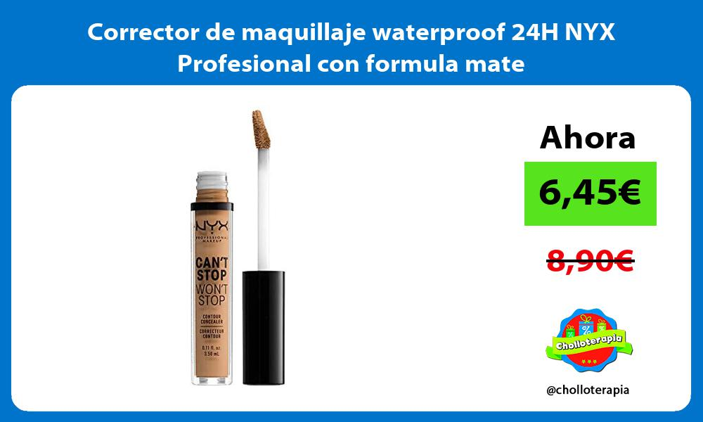 Corrector de maquillaje waterproof 24H NYX Profesional con formula mate