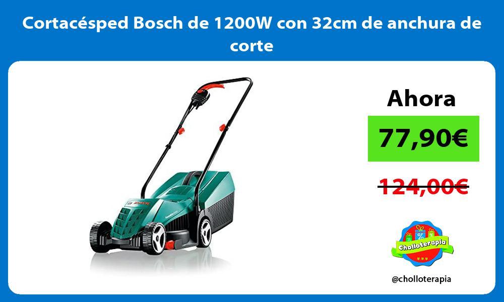 Cortacésped Bosch de 1200W con 32cm de anchura de corte