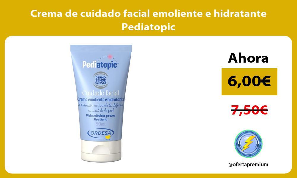 Crema de cuidado facial emoliente e hidratante Pediatopic