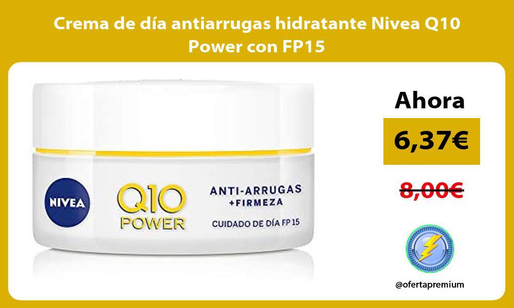 Crema de día antiarrugas hidratante Nivea Q10 Power con FP15