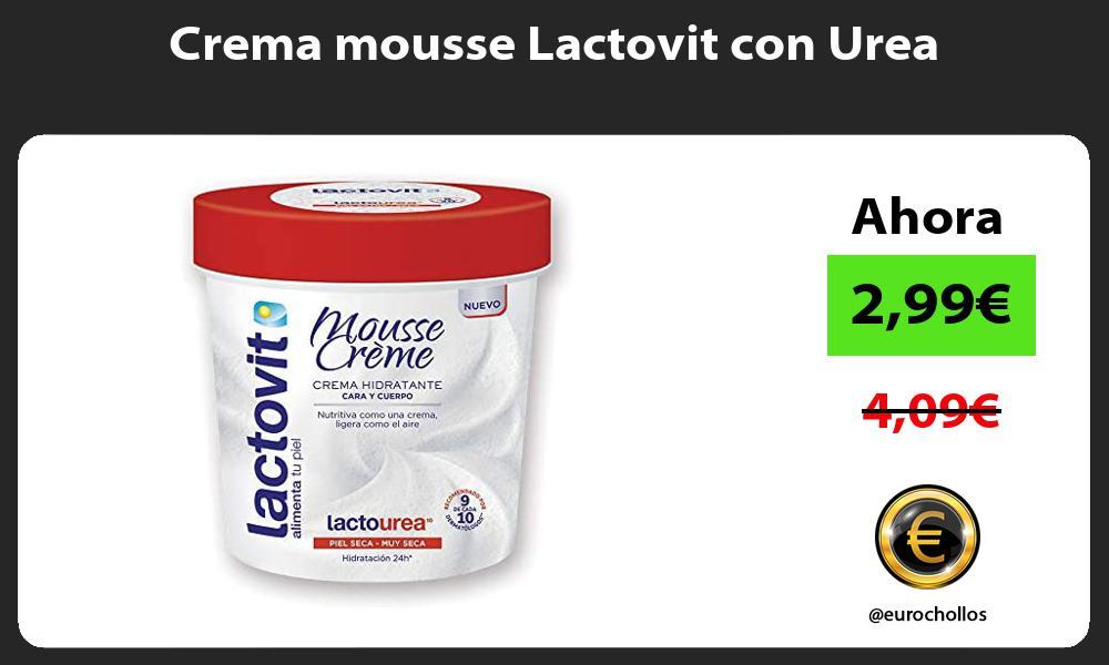 Crema mousse Lactovit con Urea