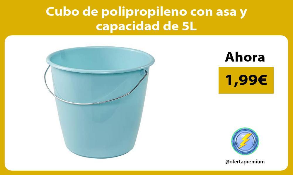 Cubo de polipropileno con asa y capacidad de 5L