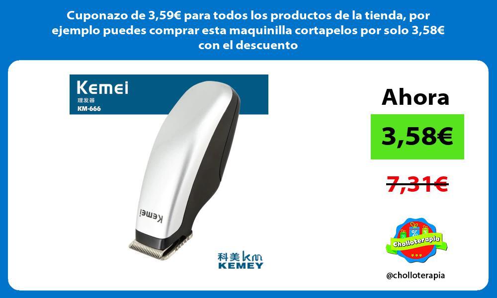 Cuponazo de 359€ para todos los productos de la tienda por ejemplo puedes comprar esta maquinilla cortapelos por solo 358€ con el descuento