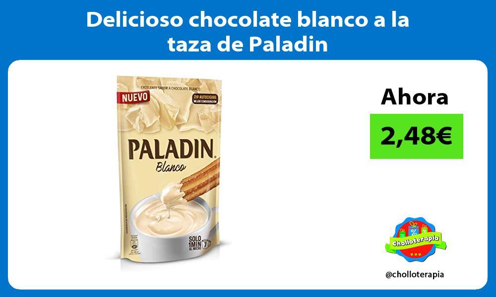 Delicioso chocolate blanco a la taza de Paladin